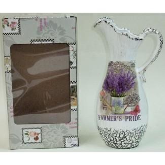 Keramický džbán levanduľa v konvičke