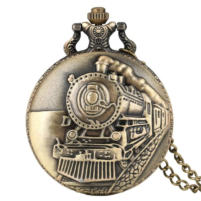 Vreckové hodinky parná lokomotíva