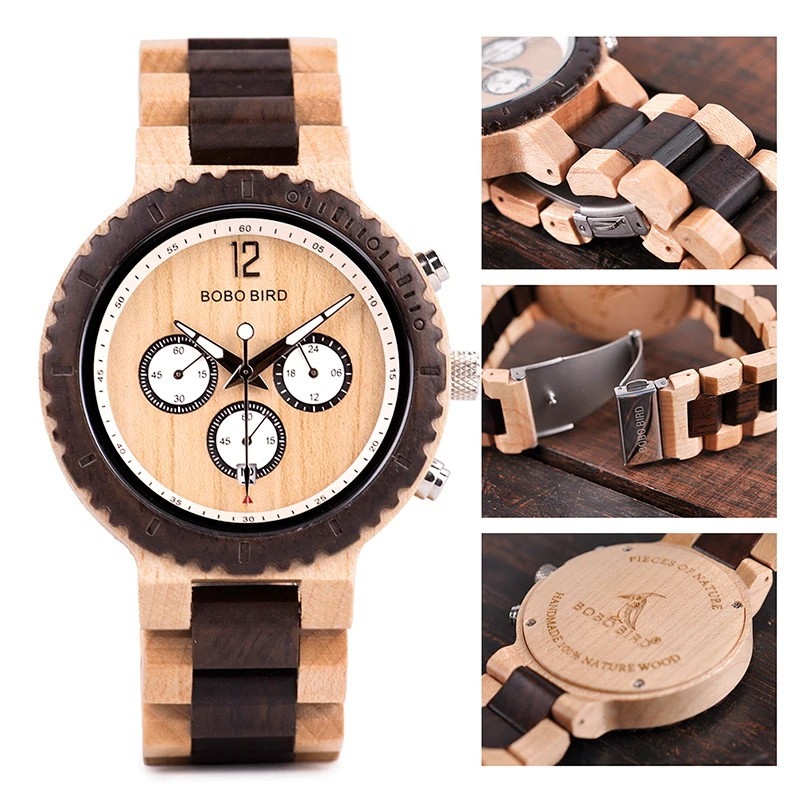 Drevené hodinky Harry