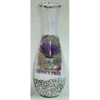 Dekoratívna keramická váza levanduľa v konvičke