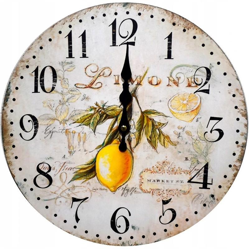 Nástenné hodiny citrón 34cm