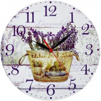 Nástenné hodiny kuchynská bylinková záhrada 28,5cm