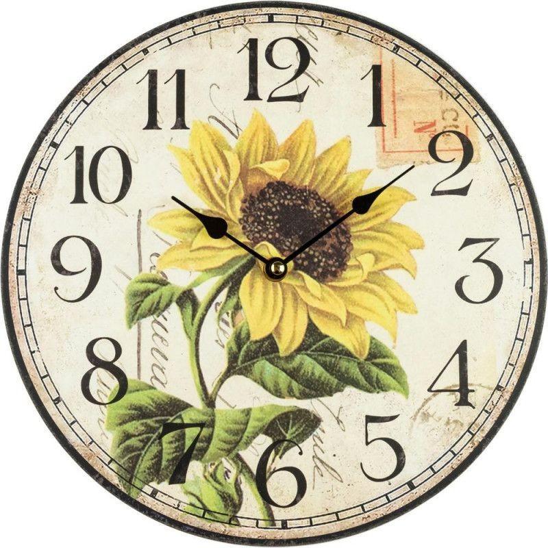 Nástenné hodiny rozkvitnutá slnečnica 30cm