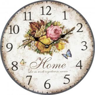 Nástenné hodiny kytica kvetov 30cm