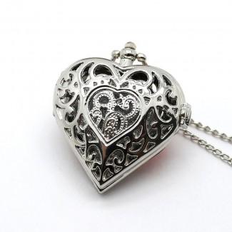 Vreckové hodinky srdce, hodinky na retiazke