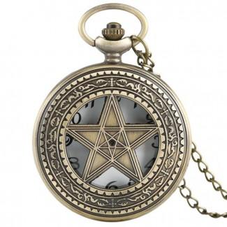 Vreckové hodinky pentagram