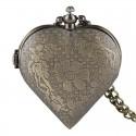 Vreckové hodinky bronzové srdce, zadná strana