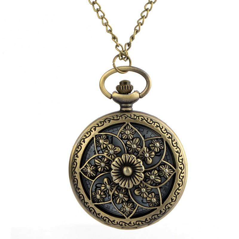 Vreckové hodinky kvet