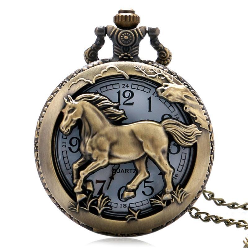 Vreckové hodinky kôň