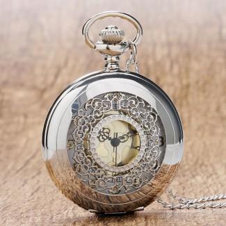 Vreckové hodinky duté vyrezávané