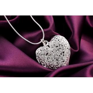 Náhrdelník duté srdce