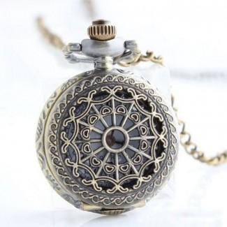 Vreckové hodinky pavučina malé