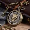 Vreckové hodinky karibska pirátska lebka