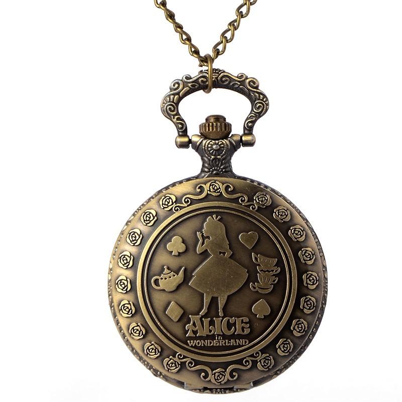 Vreckové hodinky Alica v krajine zázrakov
