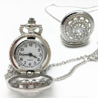 Vreckové hodinky spider strieborné