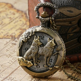 Vreckové hodinky vlci