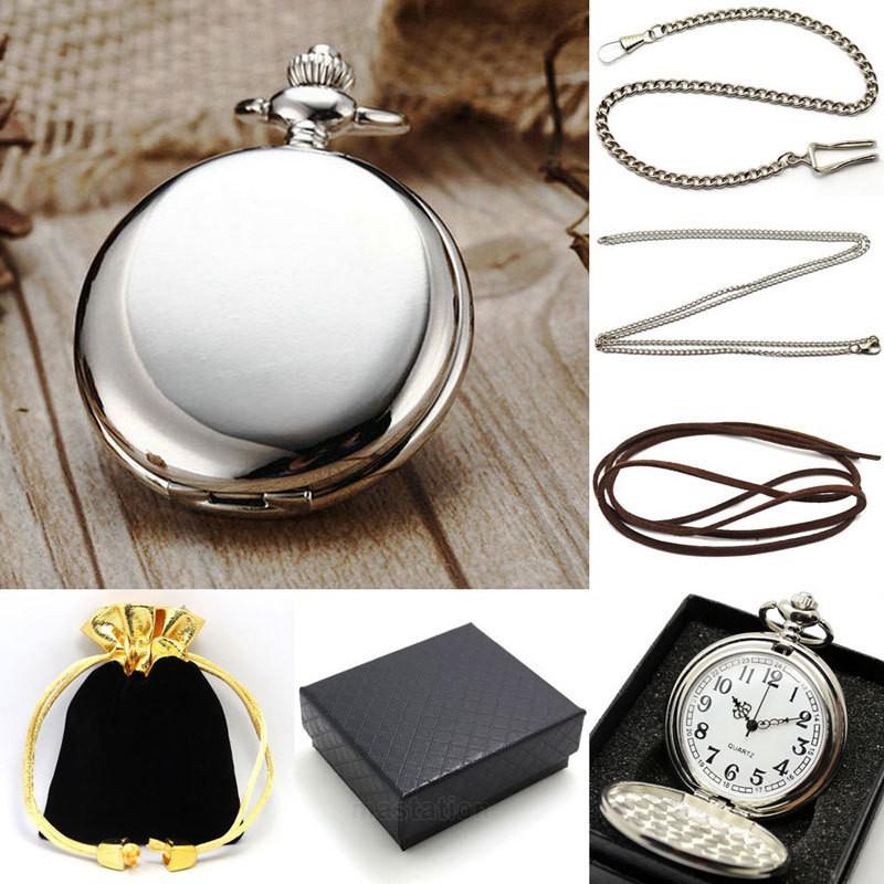 Vreckové hodinky strieborné, darčekové balenie