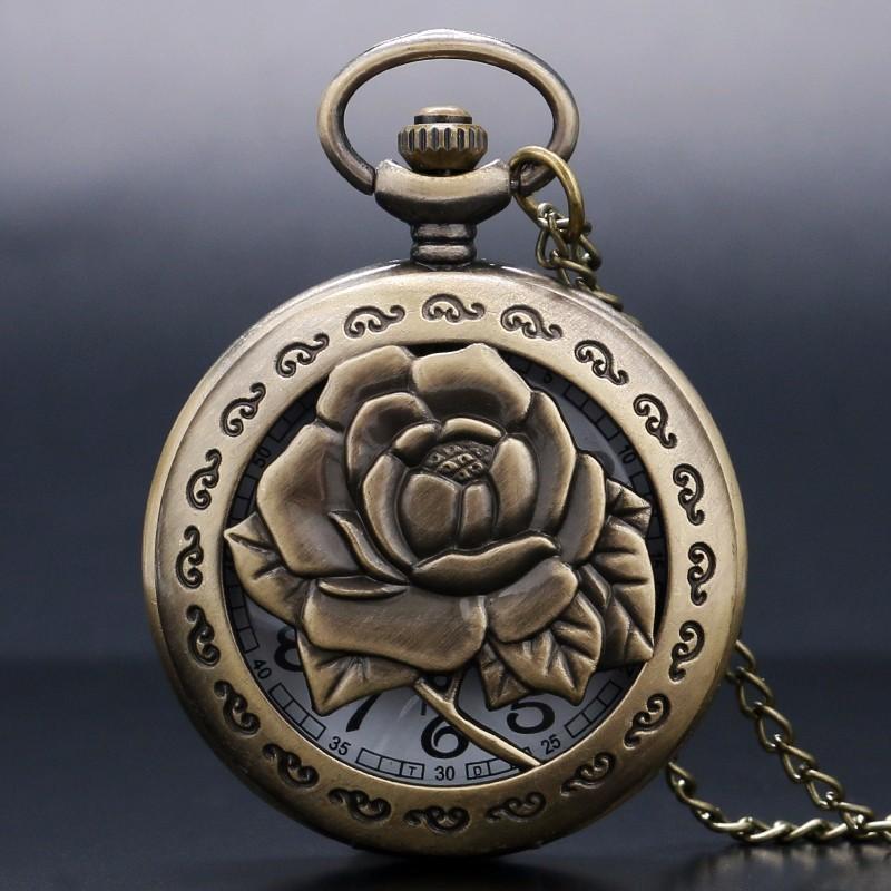 Vreckové hodinky Kvet Ruže