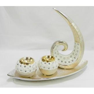 Dekoračný keramický svietnik