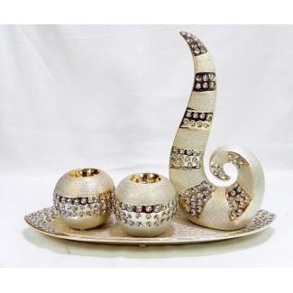 Dekoračný keramický svietnik 2