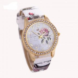 Dámske náramkové hodinky Pivonka biele