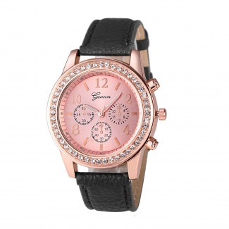 Dámske náramkové hodinky Geneva black
