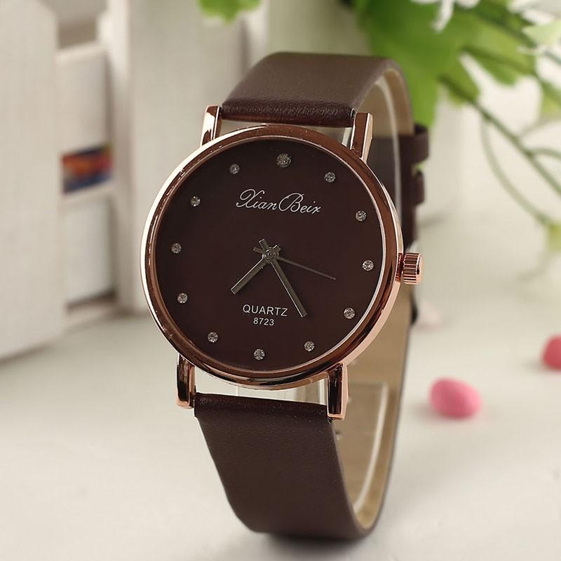 Dámske náramkové hodinky Kian beir hnedé