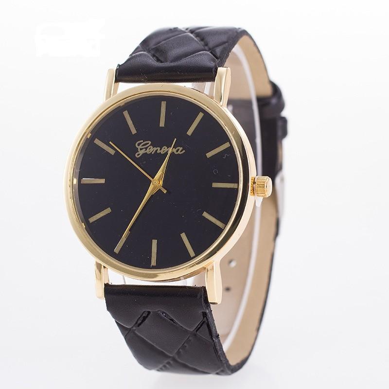 Dámske náramkové hodinky Geneva čierne
