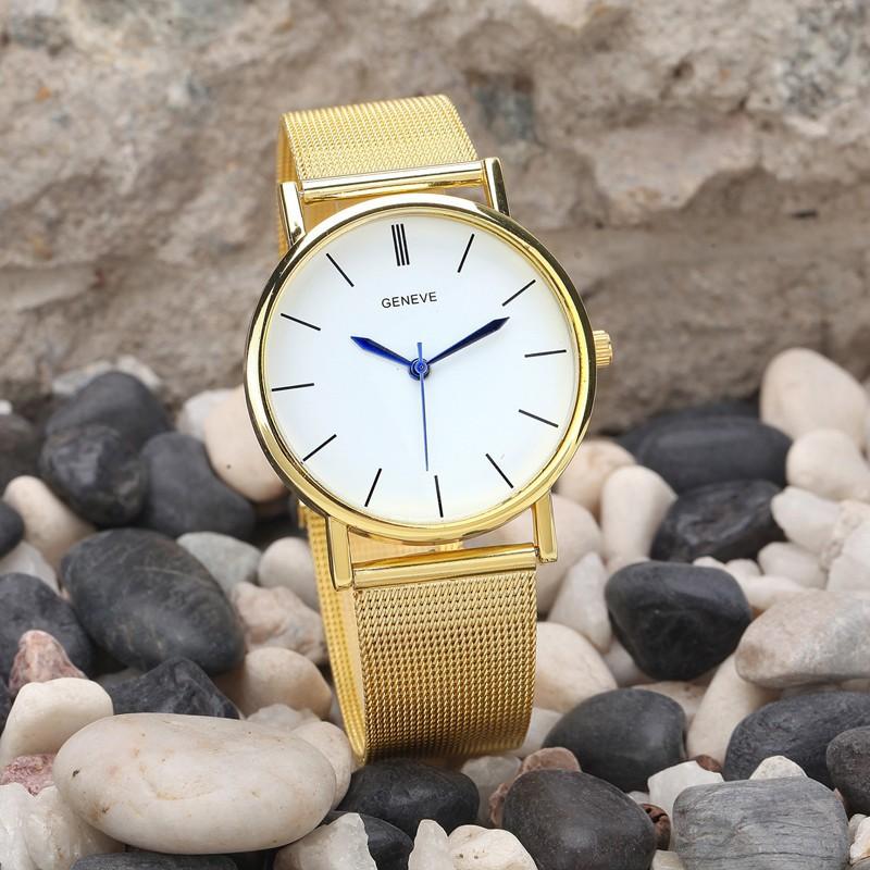 Dámske náramkové hodinky Geneve Gold