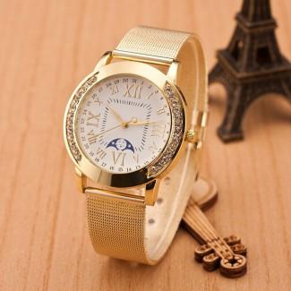 Dámske náramkové hodinky Gold