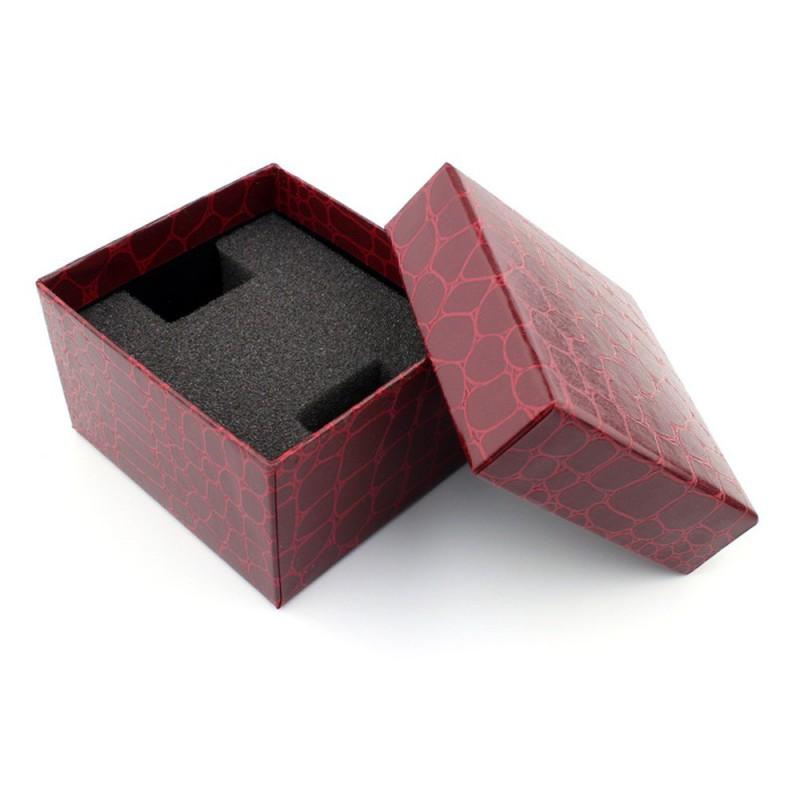 Krabička na hodinky bordová