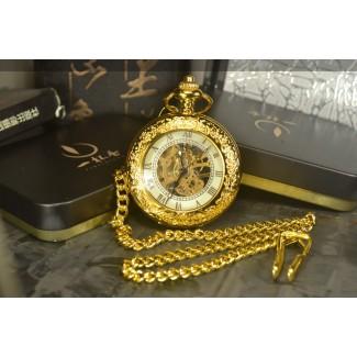 Vreckové hodinky mechanické Gold