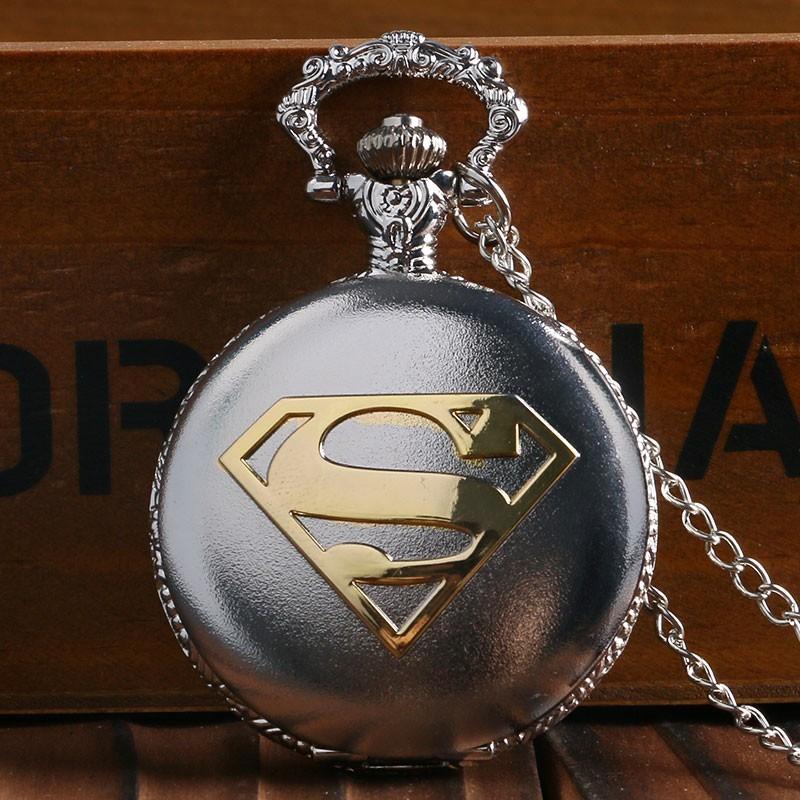 Vreckové hodinky Superman strieborné