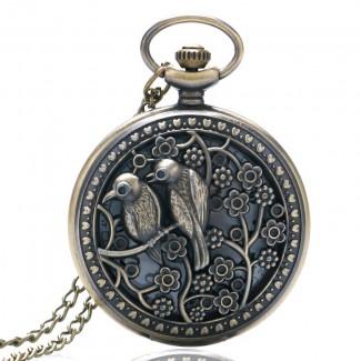 Vreckové hodinky vtáky