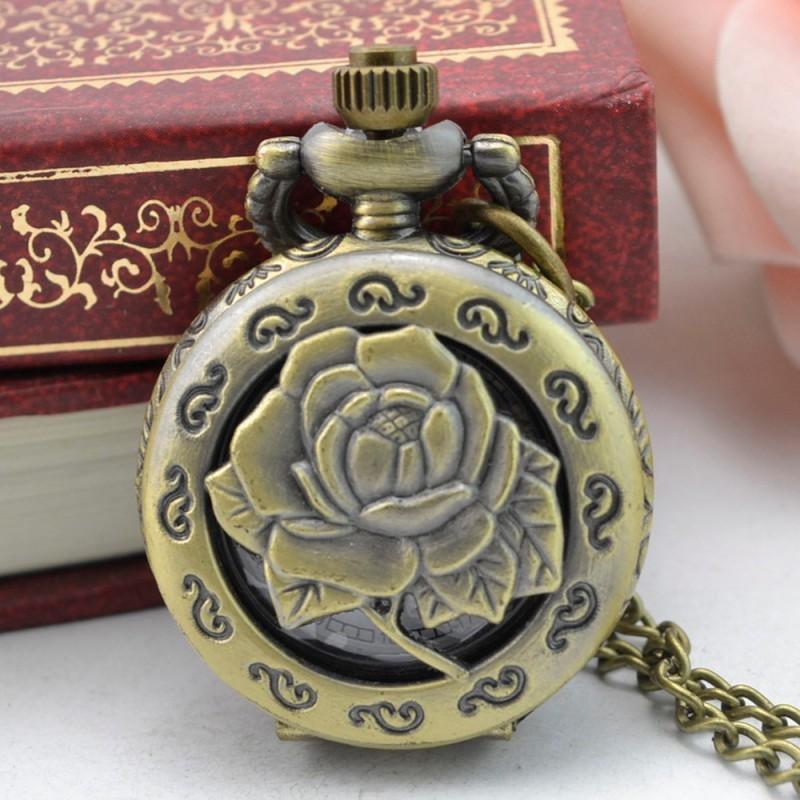 Vreckové hodinky Kvet Ruže malé