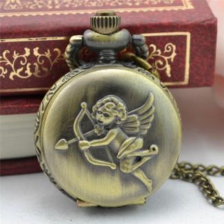 Vreckové hodinky anjel