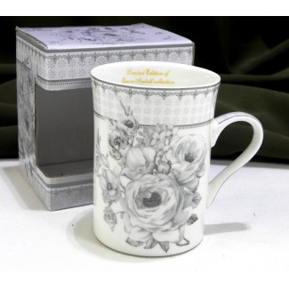 Porcelánový hrnček vzor kvety