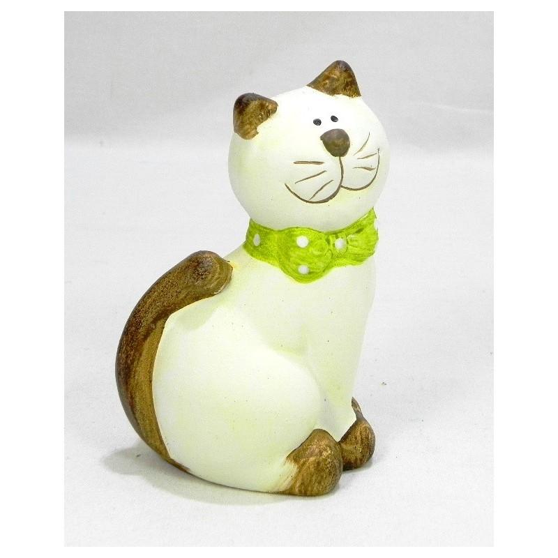 Mačka zelená mašlička K12