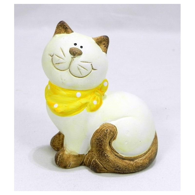 Mačka žltá mašlička K10