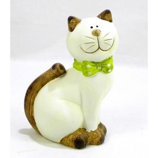 Mačka zelená mašlička K16,5