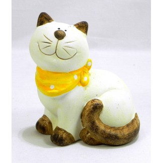 Mačka žltá mašlička K13,5