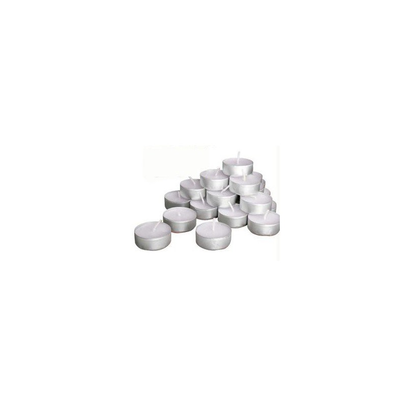 Čajová sviečka klasická biela