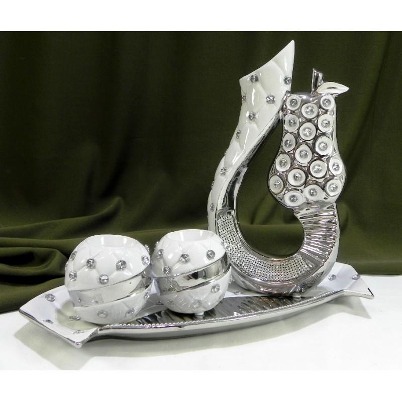 Dekoračný keramický svietnik 7