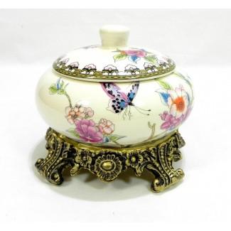 Porcelánová cukornička kvetinová