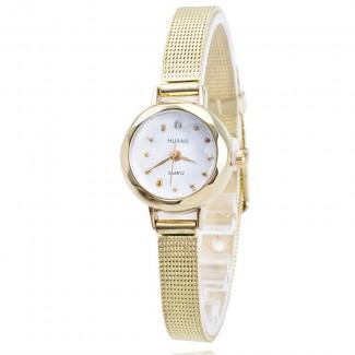 Dámske náramkové hodinky malé zlaté