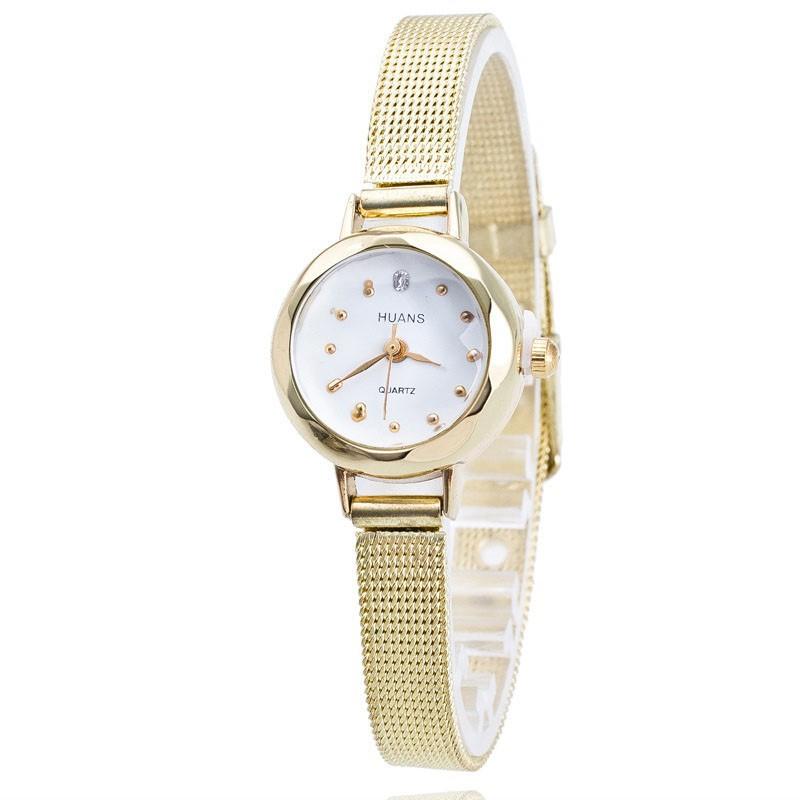 884875d238 Dámske náramkové hodinky malé zlaté