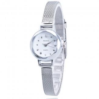 Dámske náramkové hodinky malé strieborné