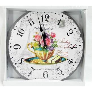 Nástenné hodiny kvetina 34cm