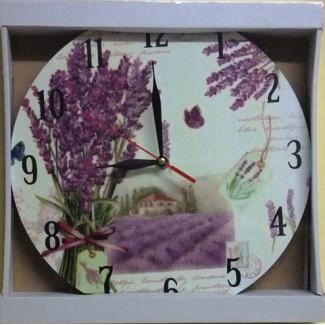 Nástenné hodiny kytica levandule 29cm