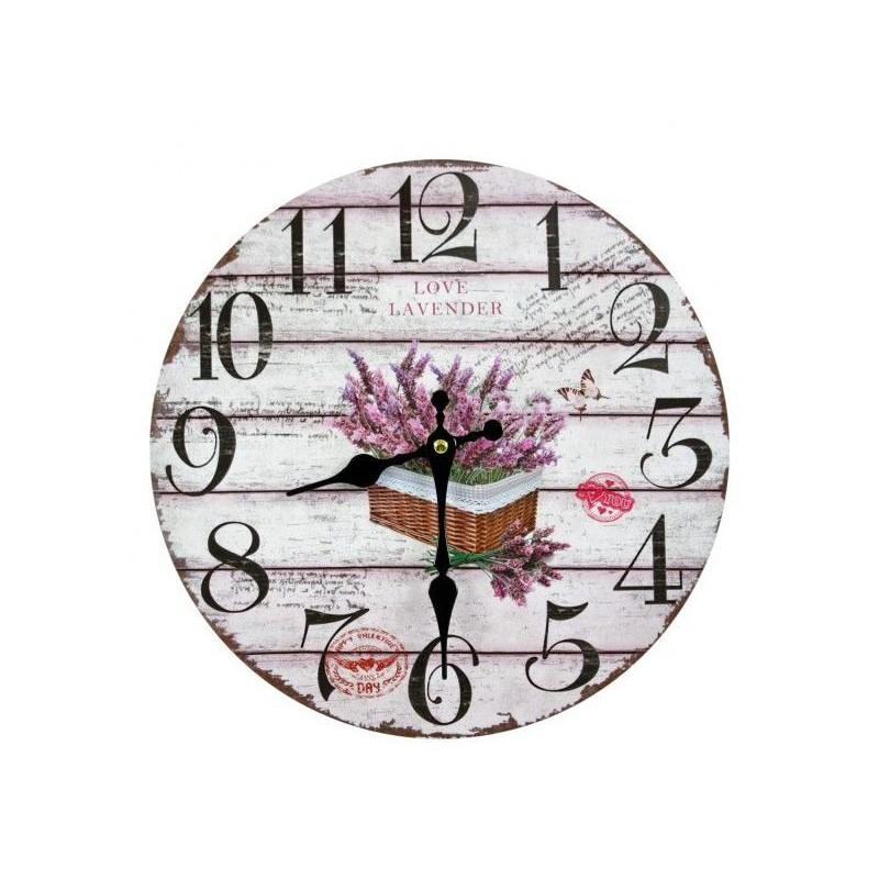 Nástenné hodiny love lavender 30cm